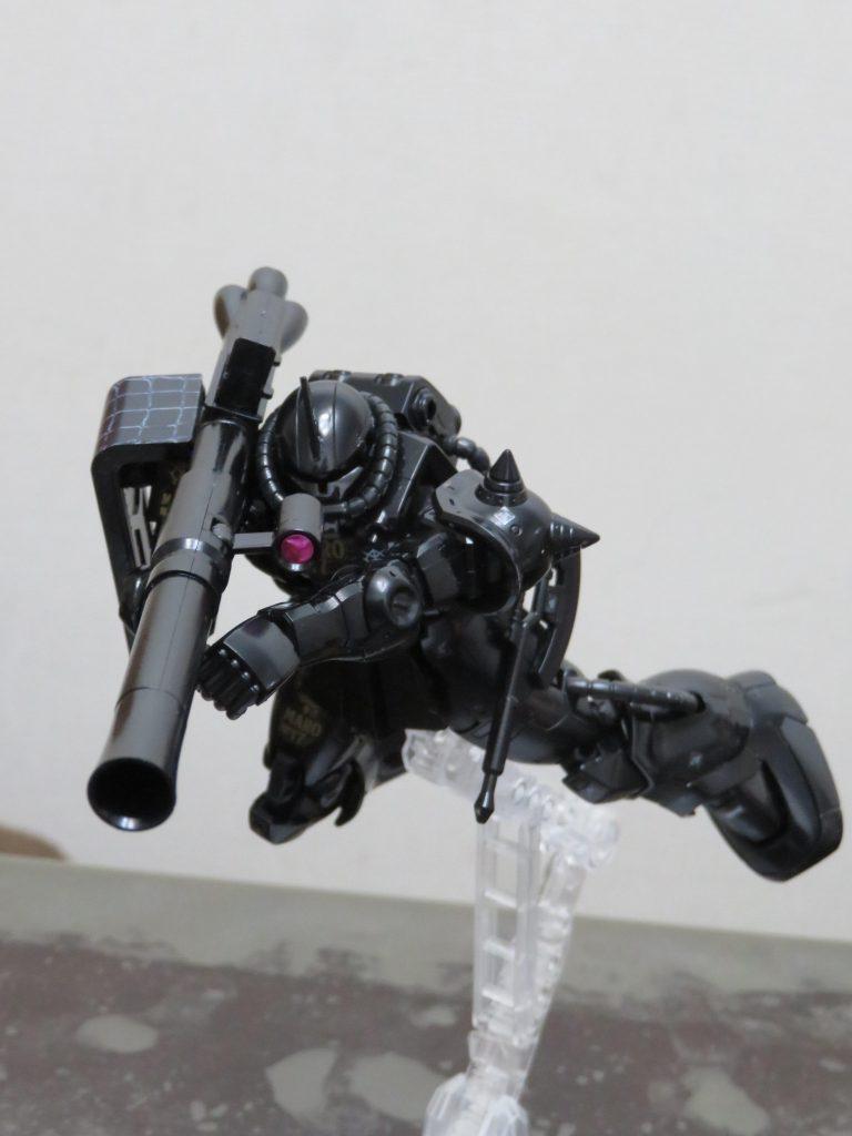 HG_黒髪のシャア専用ザクⅡ MARO17 × ガンダムコラボキャンペーン限定 制作工程1