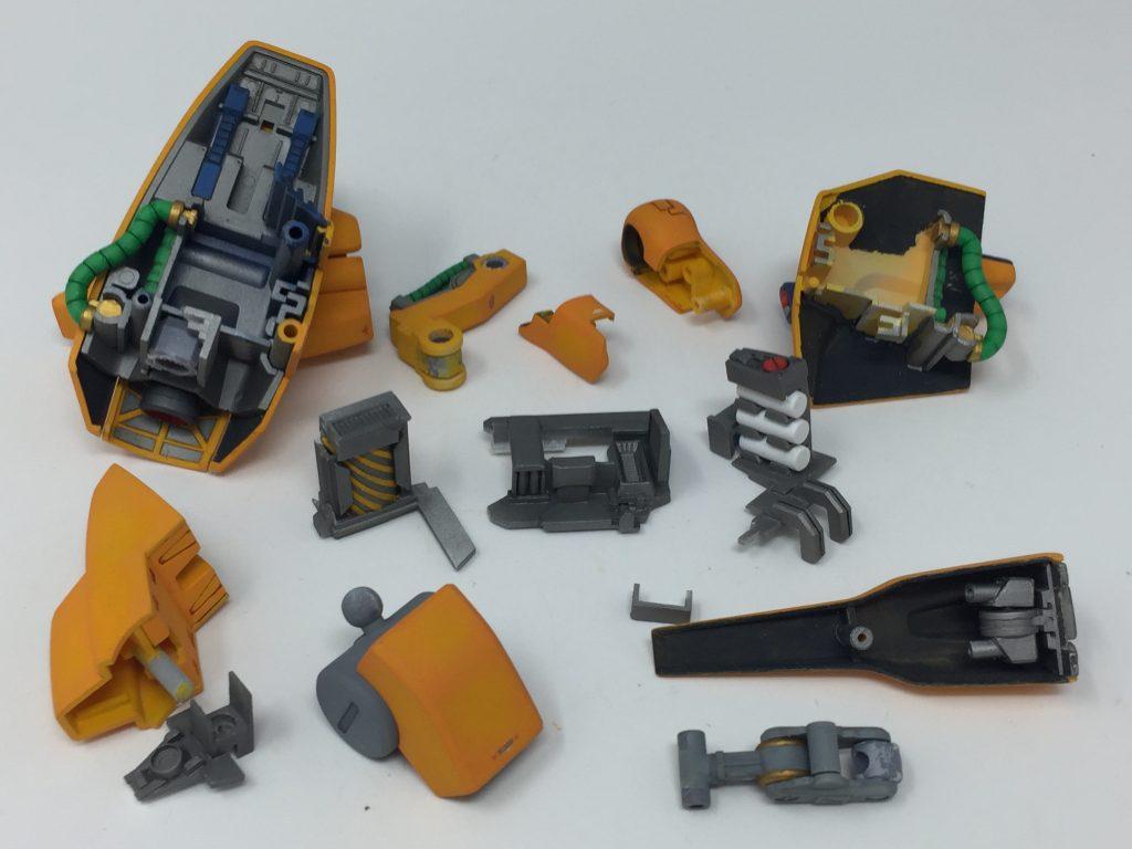 HGUC メタス + 追加装備A/B/C 制作工程6