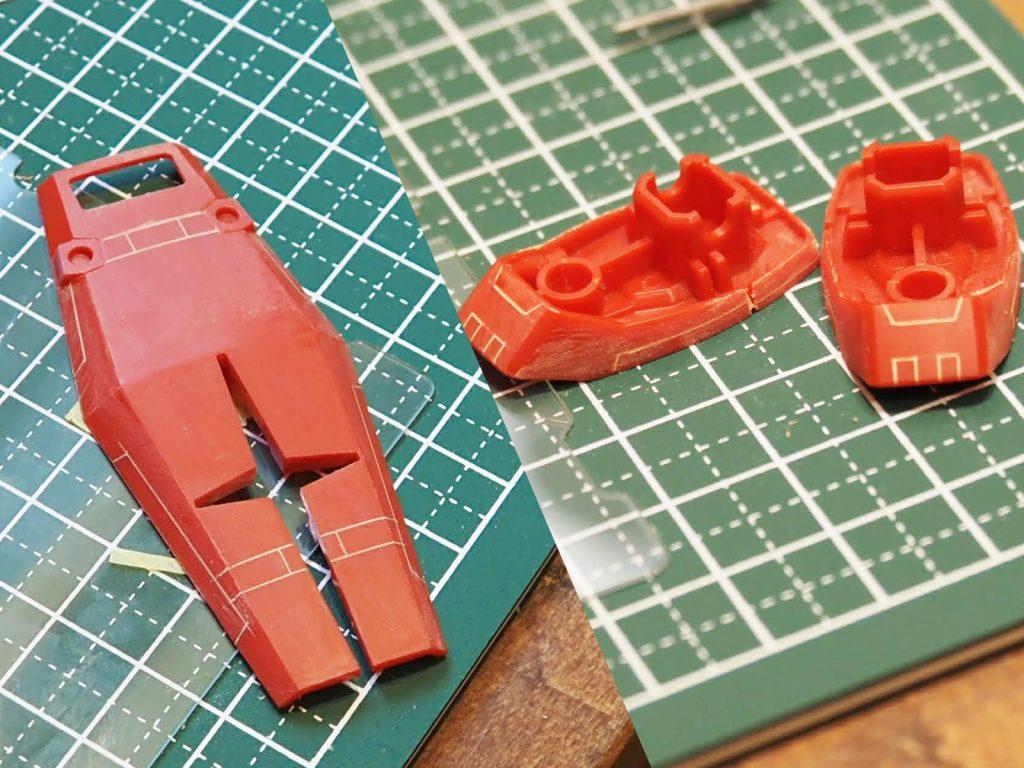 HGUC RX-78 ガンダム(リバイブ版) 制作工程4