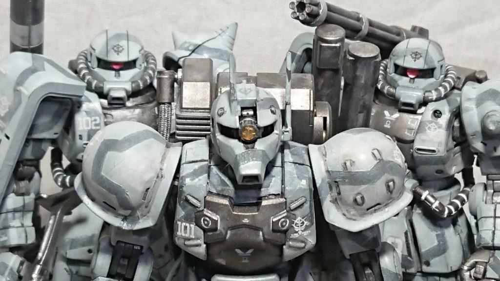 ザクⅠ、Ⅱ ビームライフル実戦運用試験 混成一個小隊
