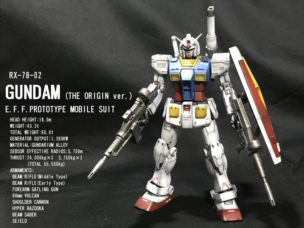 HG RX-78-02 ガンダム(THE ORIGIN ver.)