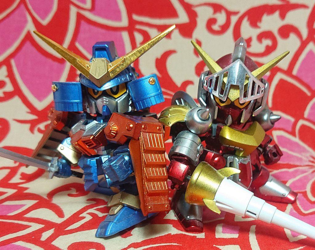 鎧武者と槍の騎士