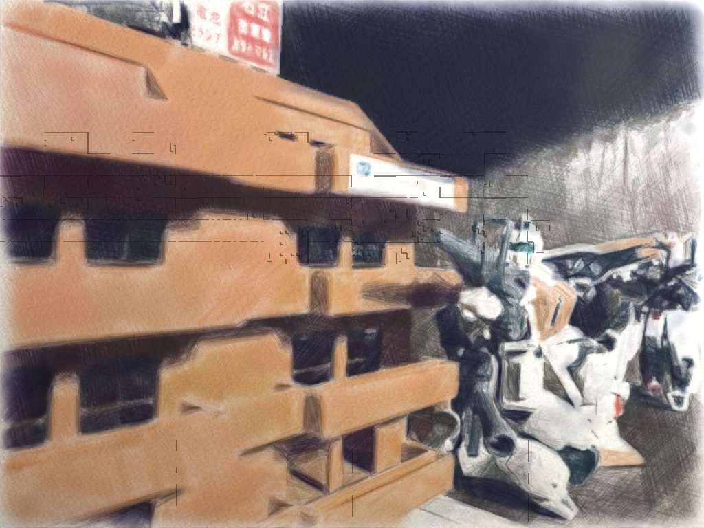 市街地戦の連邦陸軍MS小隊