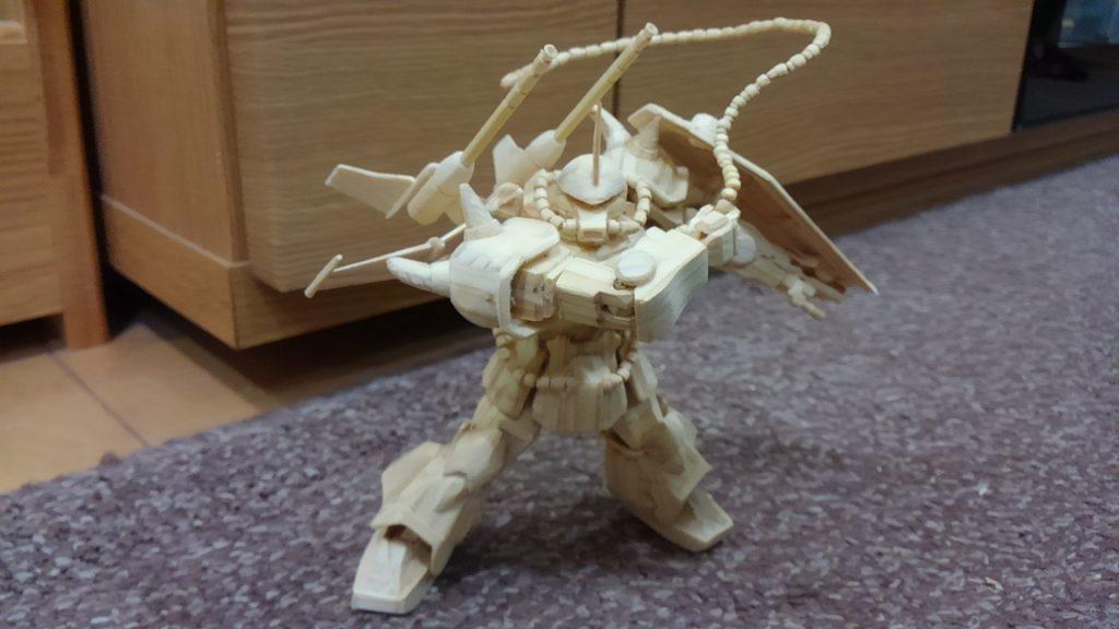 グフ複合試験型オリジナル (1/144)木製モデル