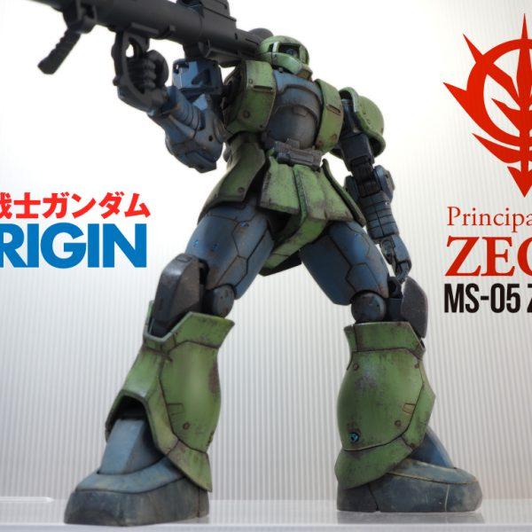 HG GUNDAM THE ORIGIN 1/144ザクⅠ