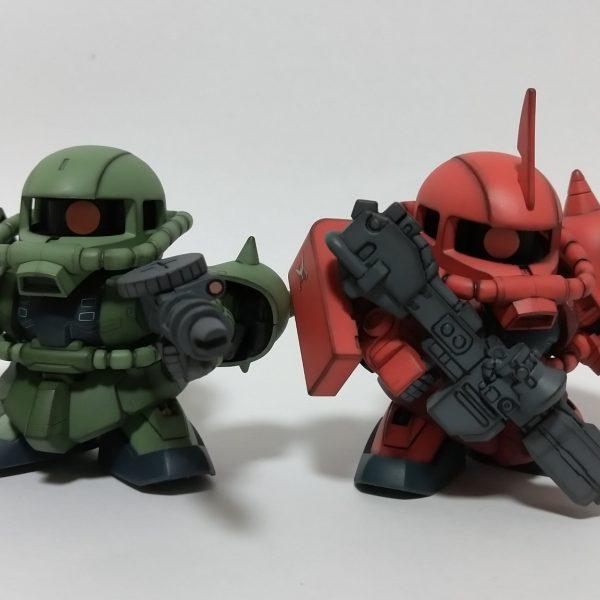 BB戦士ザクⅡ F型とS型