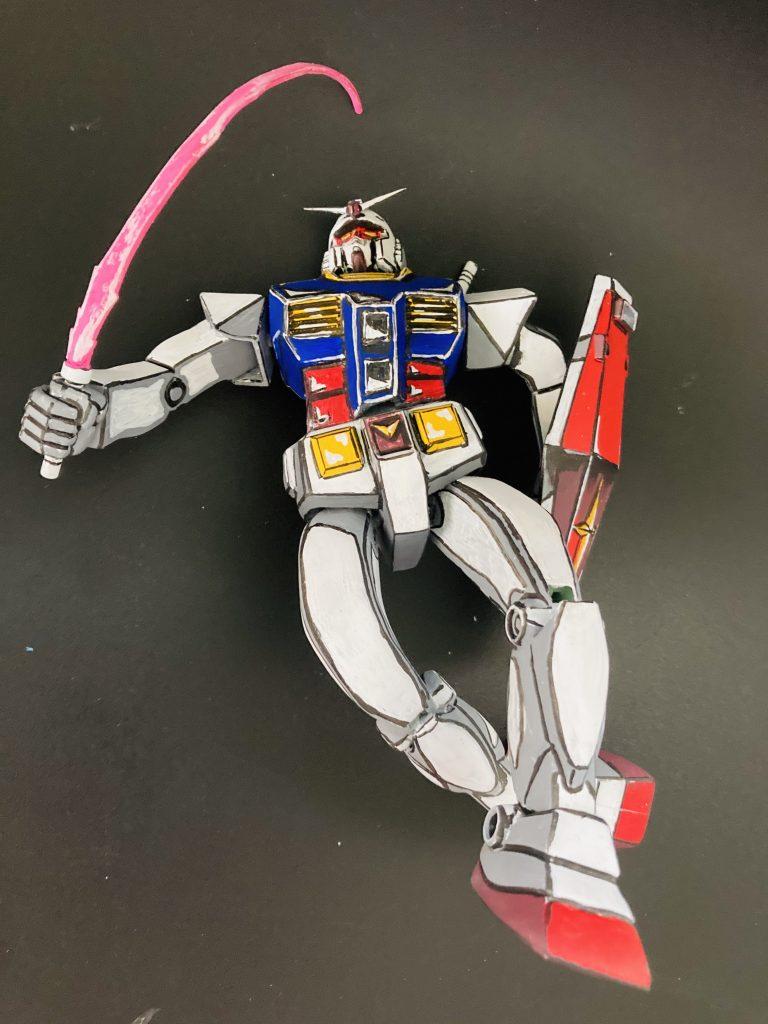 ガンダム旧キットアニメ2次元風。