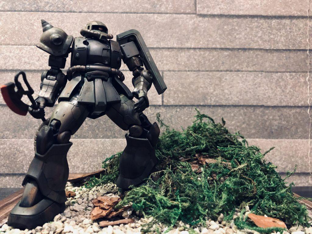 ザクⅡ THE ORIGIN版 HGUC 1/144 ジオラマ