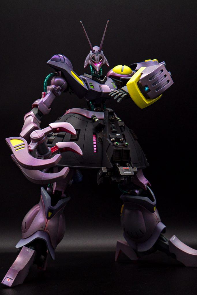 【ガンプラ改造】HGUC バウンド・ドック [スイッチLED]と追加武器をくっつけて全塗装。
