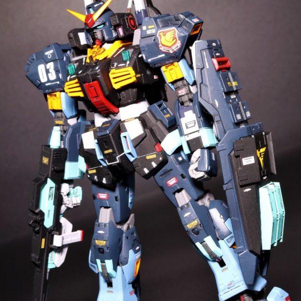 RGガンダムMk-IIティターンズ 【簡単改造】エバーグリーンのプラ板工作 RG1/144 GUNDAM Mk-II Titans