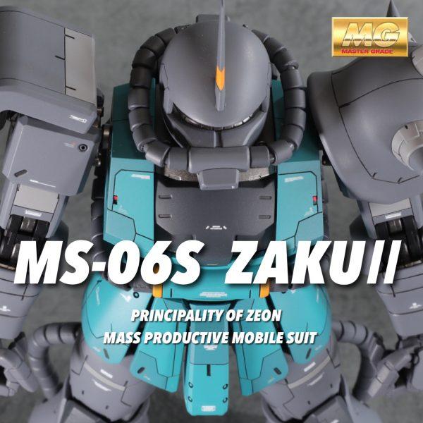 MG1/100 MS-06S ザクⅡ  ア・バオア・クー防空隊指揮官機
