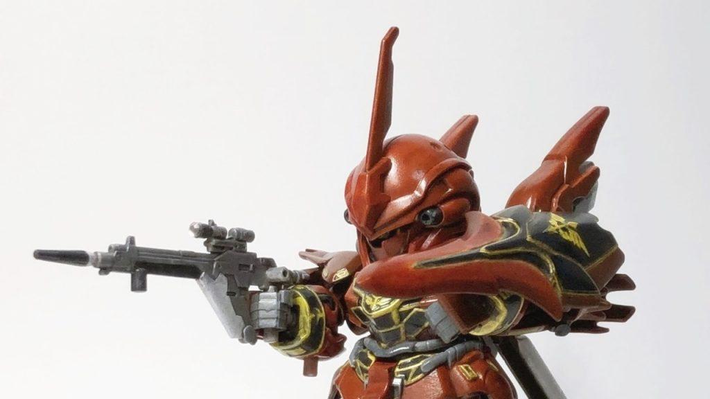 SDEX シナンジュ 筆塗り全塗装にて完成ぃ!