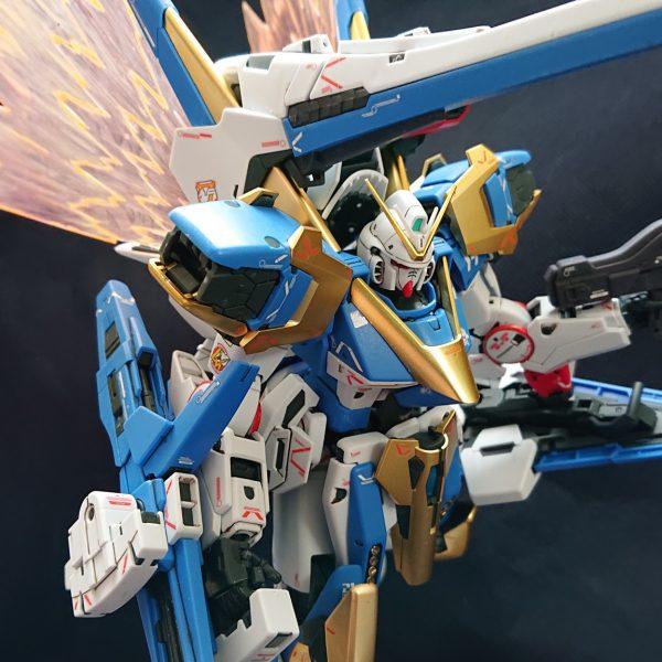 "V2アサルトバスターガンダム Ver.Ka 艶消しゴールドメッキ  +  拡張エフェクト""光の翼"""