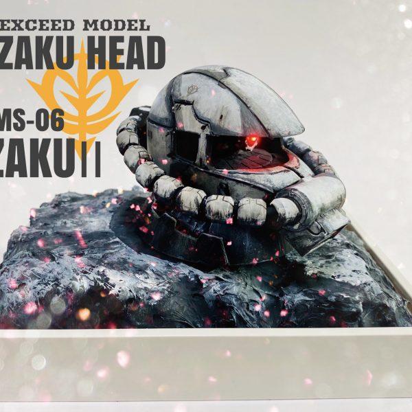 EXCEED MODEL ZAKU HEAD コミックタッチ調仕上げ
