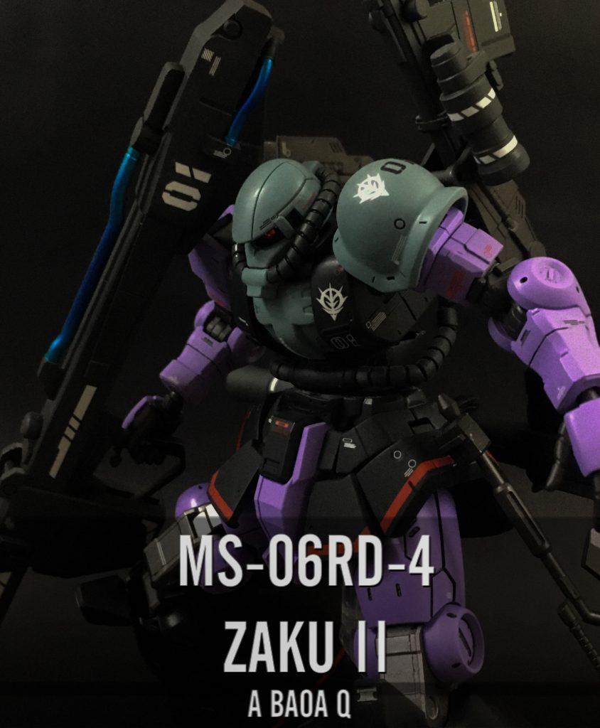 MS-06RD-4 ZAKU Ⅱ -A BAOA Q-