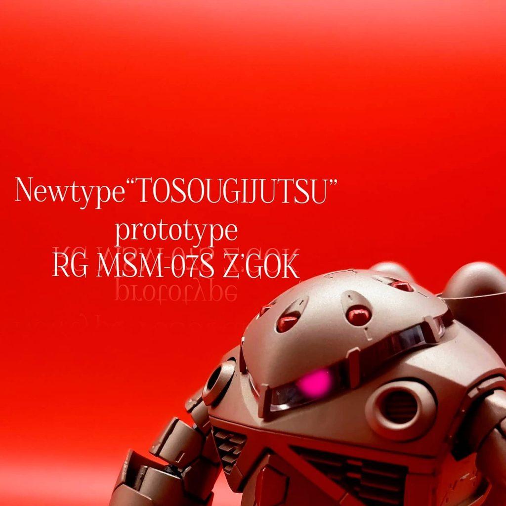 "Newtype""TOSOUGIJUTSU""prototype  RG MSM-07S Z'GOK"