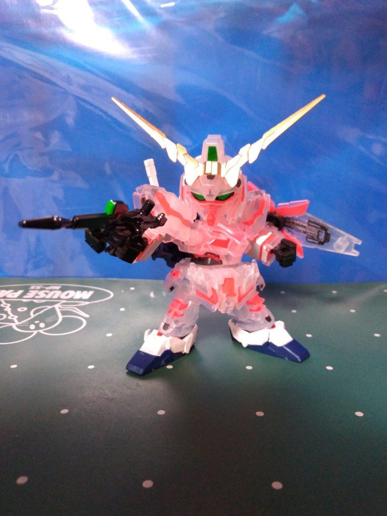 一番くじD賞SDEX RX-0 ユニコーンガンダムソリッドクリア(発光ギミック付き)