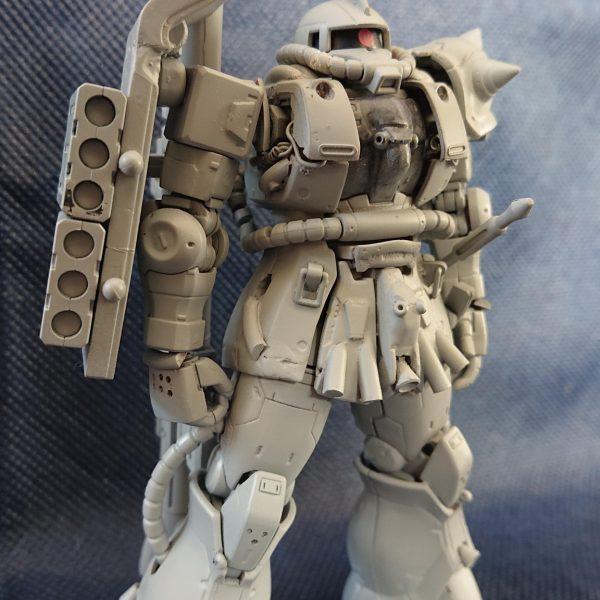 始めてのスジ彫り、改造✨THE ORIGIN シャア専用ザクII