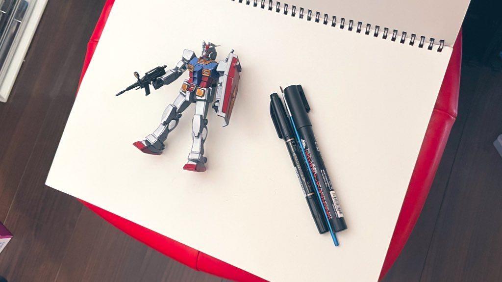 FGガンダム初めての筆塗り