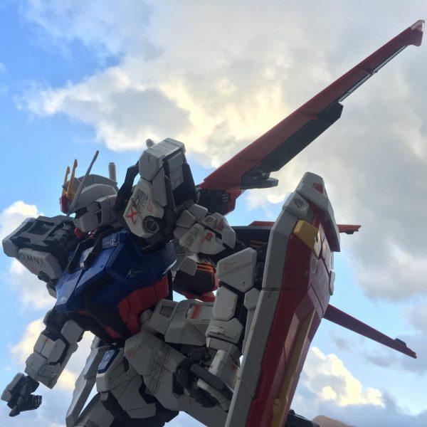 エールストライクガンダム(空撮り)
