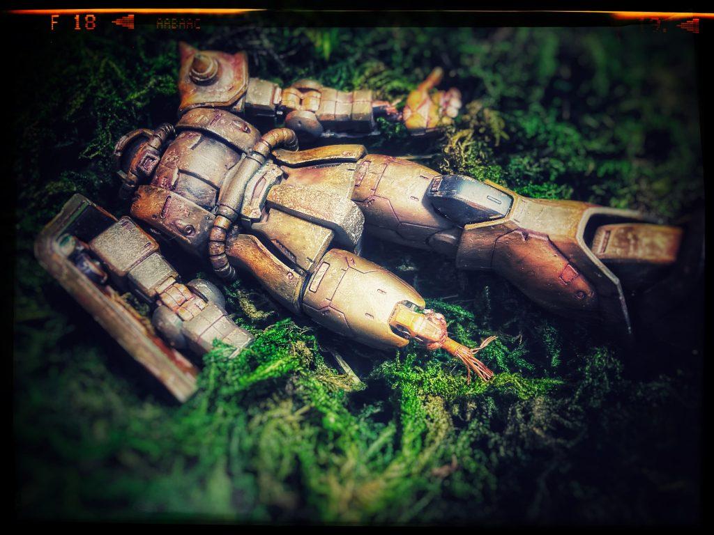 ザク、大地に眠る