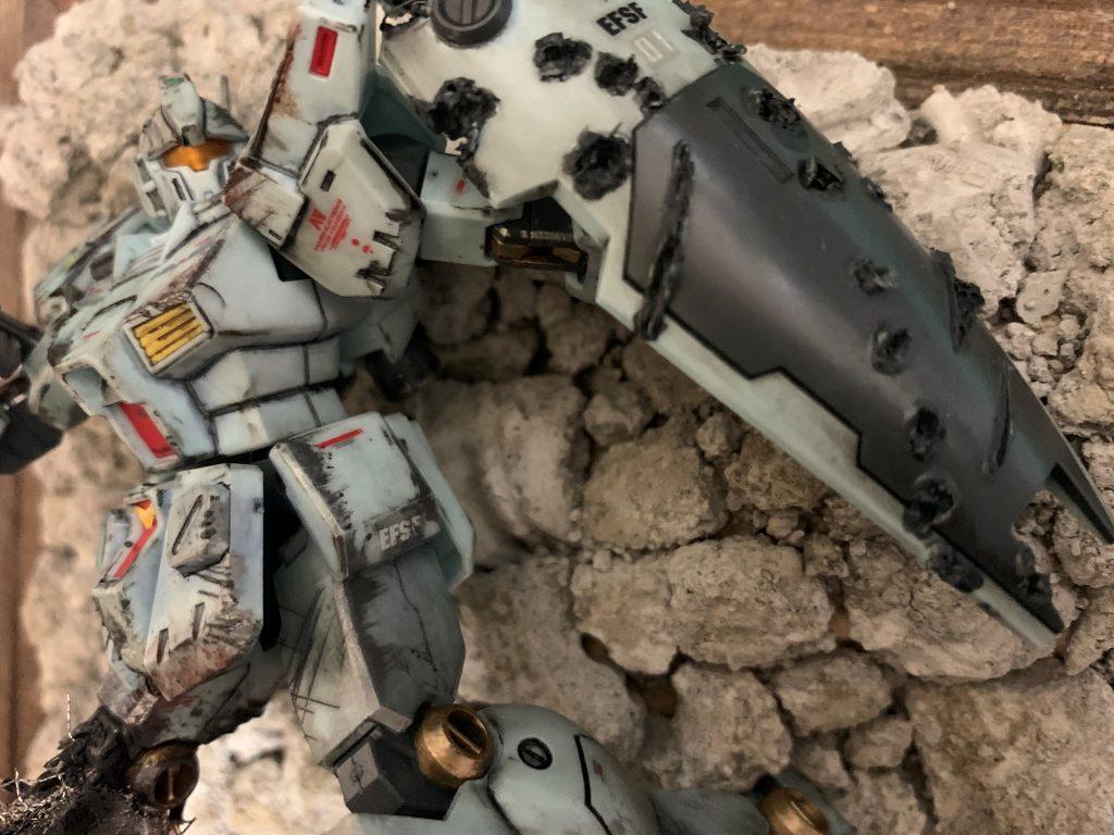 1/144 HG RGM-79N GM CUSTOM【壁掛けジオラマガンプラ】