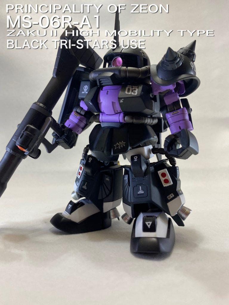 SDCS MS-06R-A1 BLACK TRI-STARS USE