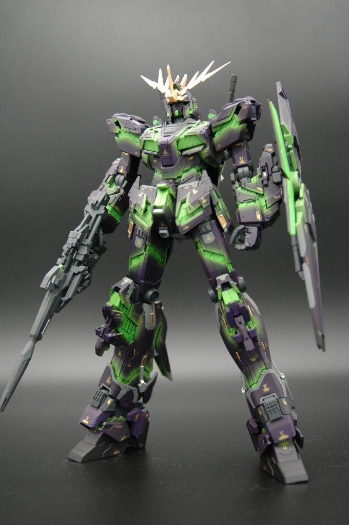 MG バンシィVer.Ka 擬似発光塗装
