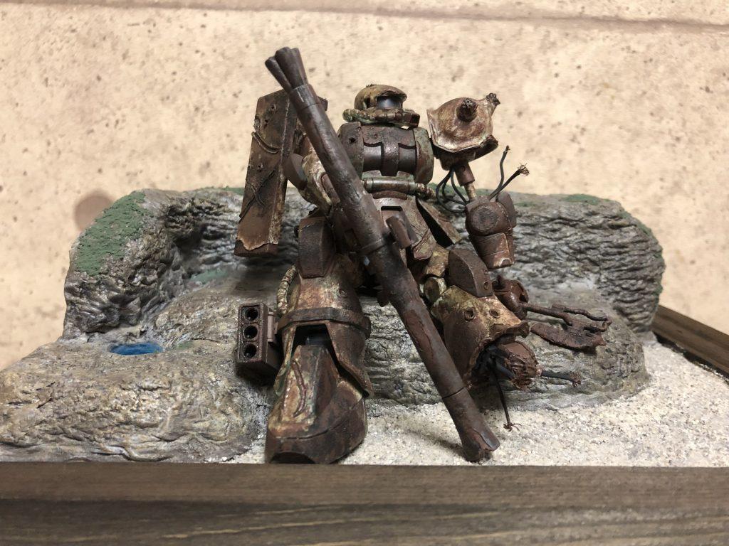 HG ザクⅡ  初めての錆・破損表現