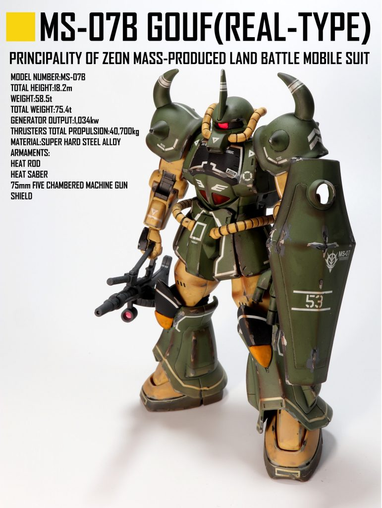 HG グフ(21stCENTURY REAL TYPE Ver.)