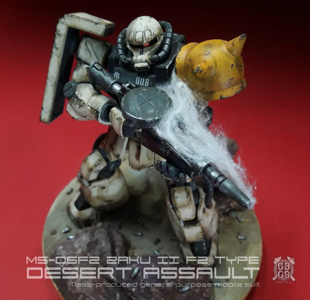 """HGUC Zaku2 F2 """"Desert Assault"""""""