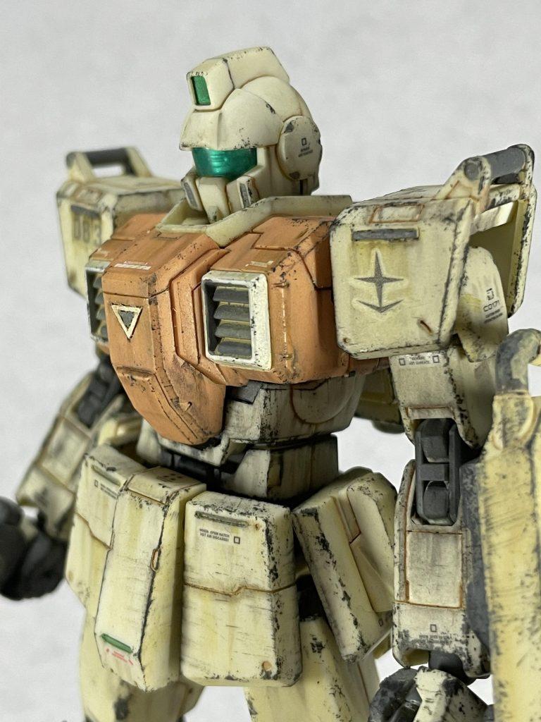 【汚しすぎた\(^q^)/】HGUC 1/144 陸戦型ジム