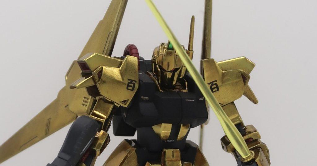 【4作目】HG百式 ゴールドメッキ風味