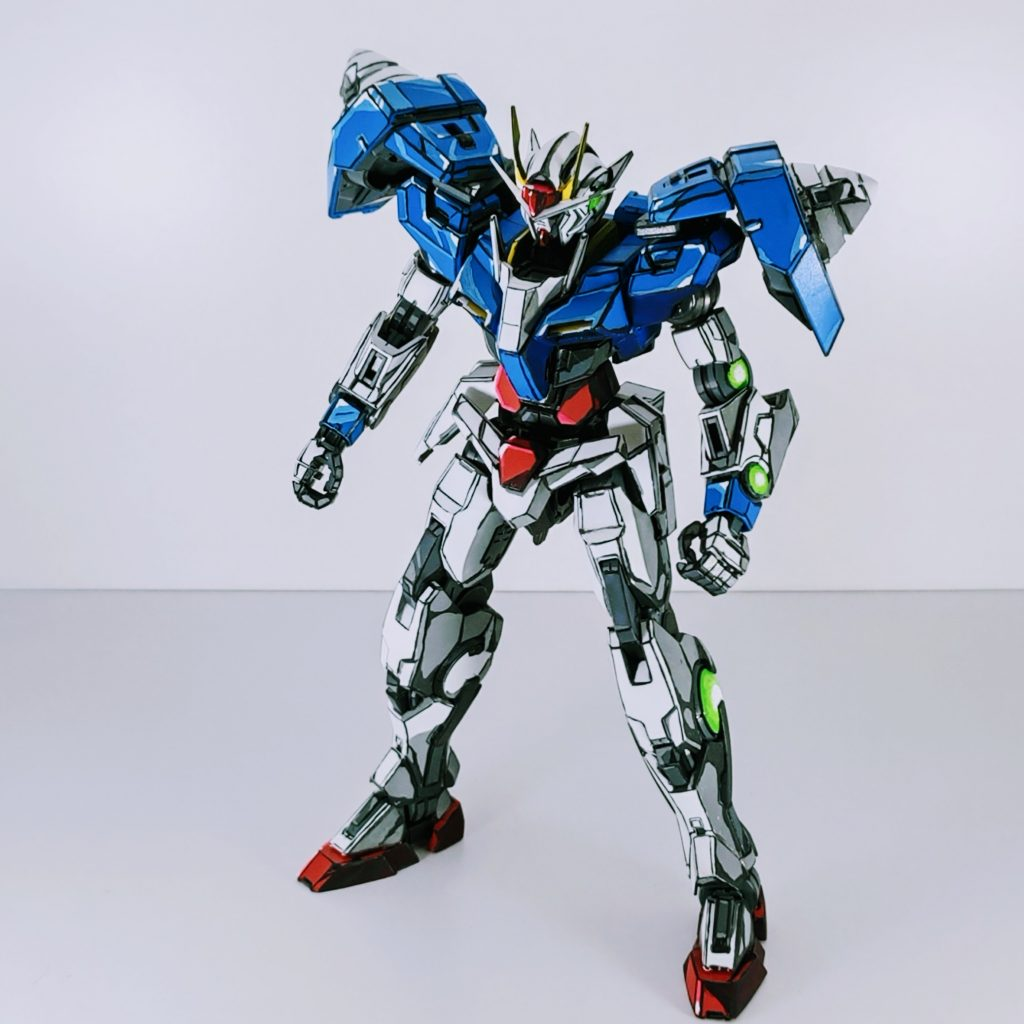 【イラスト風模型】1/100 MG ダブルオーガンダム